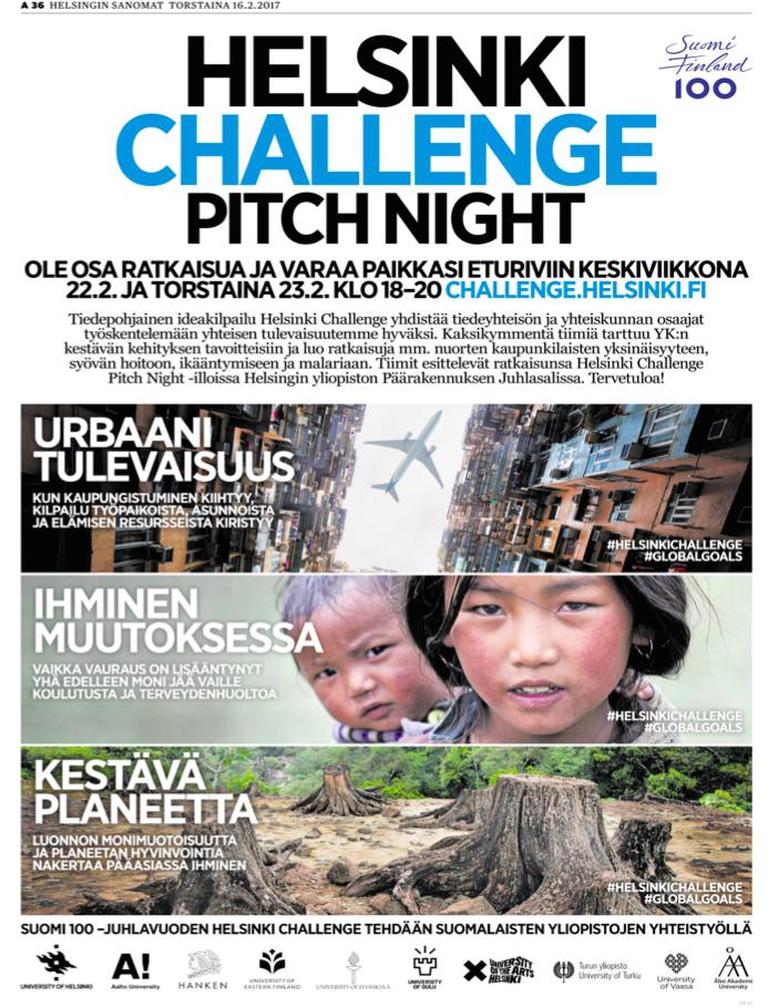 Helsinki Challenge -mainos